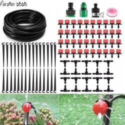 Sistema di irrigazione a goccia, irrigazione automatica con gocciolatoio regolabile 19.5 - 14